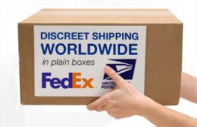 Vimax bliver leveret i en diskret pap boks
